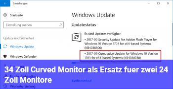 34 Zoll Curved Monitor als Ersatz für zwei 24 Zoll Monitore