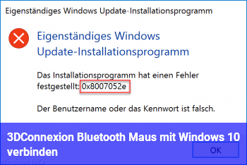 3DConnexion Bluetooth Maus mit Windows 10 verbinden