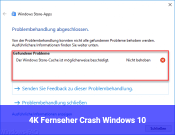 4K Fernseher Crash Windows 10