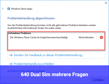 640 Dual Sim: mehrere Fragen