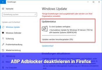 Firefox Adblocker Deaktivieren