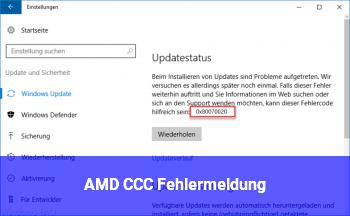 AMD CCC Fehlermeldung