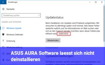 ASUS AURA Software lässt sich nicht deinstallieren