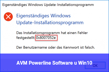 AVM Powerline Software u. Win10