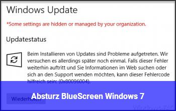 Absturz / BlueScreen Windows 7