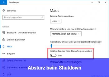 Absturz beim Shutdown