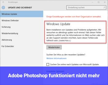 adobe photoshop funktioniert nicht mehr windows 10 net. Black Bedroom Furniture Sets. Home Design Ideas