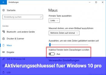 Aktivierungsschlüssel für Windows 10 pro