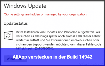 AllApp verstecken in der Build 14942