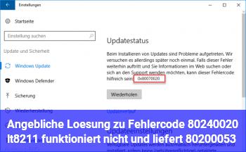 Angebliche Lösung zu Fehlercode 80240020 <– funktioniert nicht und liefert 80200053