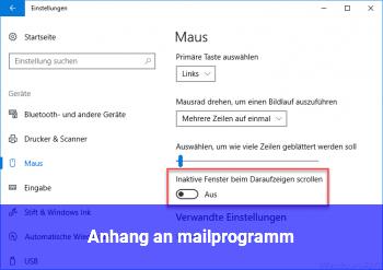 Anhang an mailprogramm