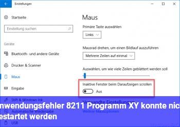 Anwendungsfehler – Programm XY konnte nicht gestartet werden