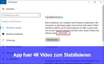App für 4K Video zum Stabilisieren ?
