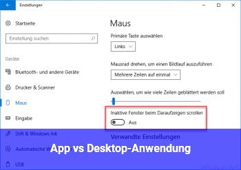 App vs. Desktop-Anwendung