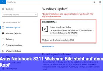 Asus Notebook – Webcam: Bild steht auf dem Kopf