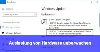 Auslastung von Hardware überwachen