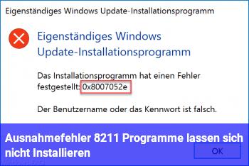 """""""Ausnahmefehler"""" – Programme lassen sich nicht Installieren"""