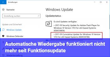 """Automatische Wiedergabe funktioniert nicht mehr seit """"Funktionsupdate"""""""