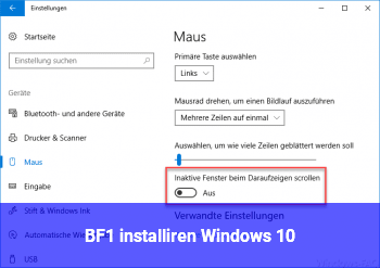 BF1 installiren Windows 10