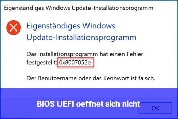 BIOS/ UEFI öffnet sich nicht!