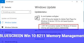 memory management blue screen win 10