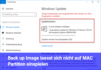 Back up Image lässt sich nicht auf MAC Partition einspielen