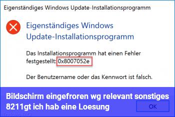 """Bildschirm eingefroren wg. """"relevant / sonstiges"""" –> ich hab eine Lösung"""