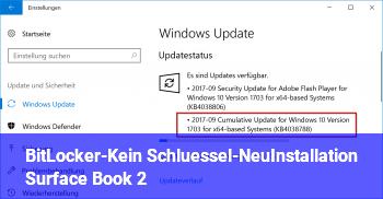 BitLocker-Kein Schlüssel-NeuInstallation (Surface Book 2)