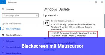 Blackscreen mit Mauscursor
