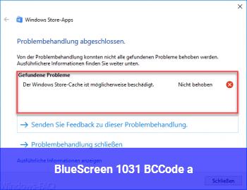 BlueScreen 1031 BCCode a