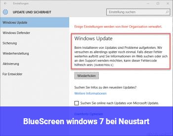 BlueScreen windows 7 bei Neustart