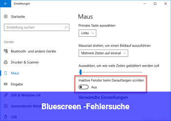Bluescreen -Fehlersuche