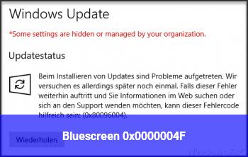 Bluescreen 0x0000004F