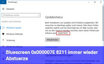 Bluescreen 0x000007E – immer wieder Abstürze