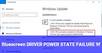 Bluescreen DRIVER_POWER_STATE_FAILURE (9f)