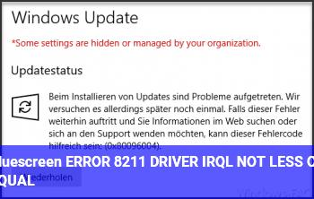 Bluescreen ERROR – DRIVER_IRQL_NOT_LESS_OR_EQUAL