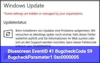 Bluescreen, EventID 41 BugcheckCode 59, BugcheckParameter1 0xc0000005