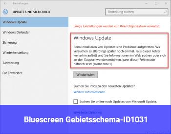 Bluescreen Gebietsschema-ID:1031