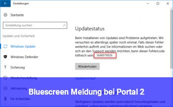 Bluescreen Meldung bei Portal 2