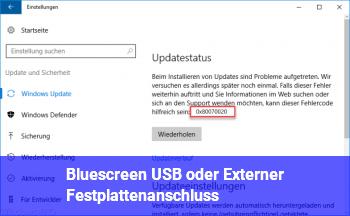 Bluescreen (USB oder Externer Festplattenanschluss)