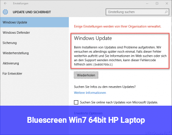 Bluescreen Win7 64bit HP Laptop