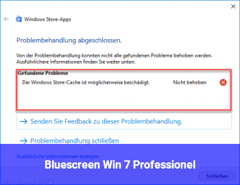 Bluescreen Win 7 Professionel