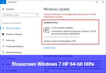 Bluescreen Windows 7 HP (64-bit) Hilfe!!!