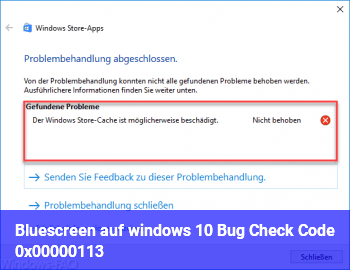 Bluescreen auf windows 10 , Bug Check Code 0x00000113