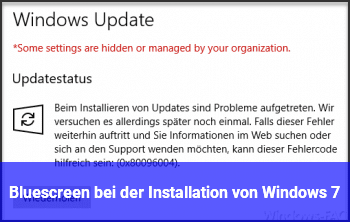 Bluescreen bei der Installation von Windows 7