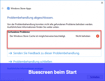 Bluescreen beim Start