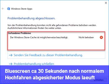 """Bluescreen ca. 30 Sekunden nach """"normalem"""" Hochfahren (abgesicherter Modus läuft)"""