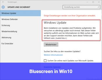 Bluescreen in Win10