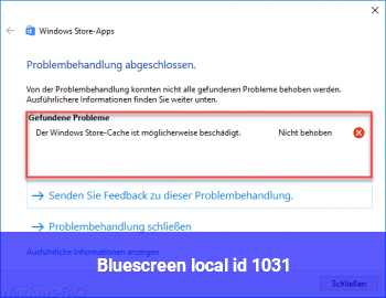 Bluescreen local id: 1031
