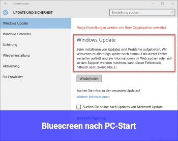 Bluescreen nach PC-Start